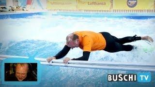 Buschi entdeckt... Eisbachsurfen