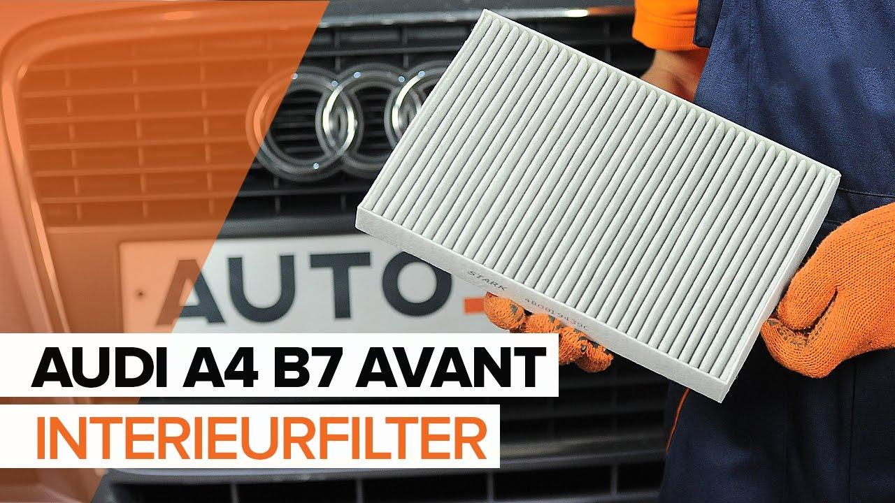 Spiksplinternieuw Hoe een Interieurfilter vervangen op een AUDI A4 B7 AVANT JG-06