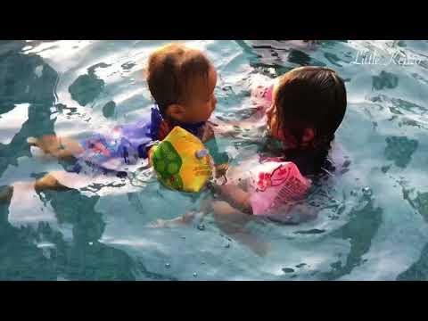 Kenzo Belajar Berenang sama Kakak Zara Cute | Aktivitas bersama Keluarga