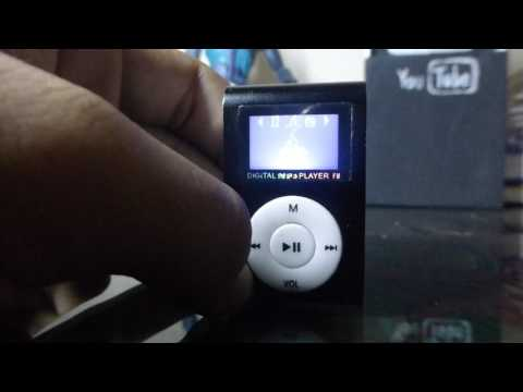 Unboxing Digital MP3 Player FM Mini clip - 2017