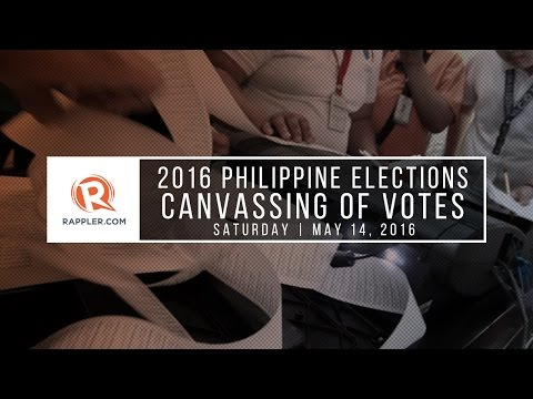 LIVE: Canvassing of votes, 2016 Philippine elections, May 14