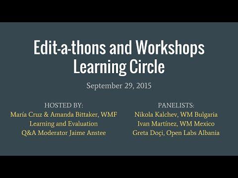 Editathons Panel: Evaluation report 2015