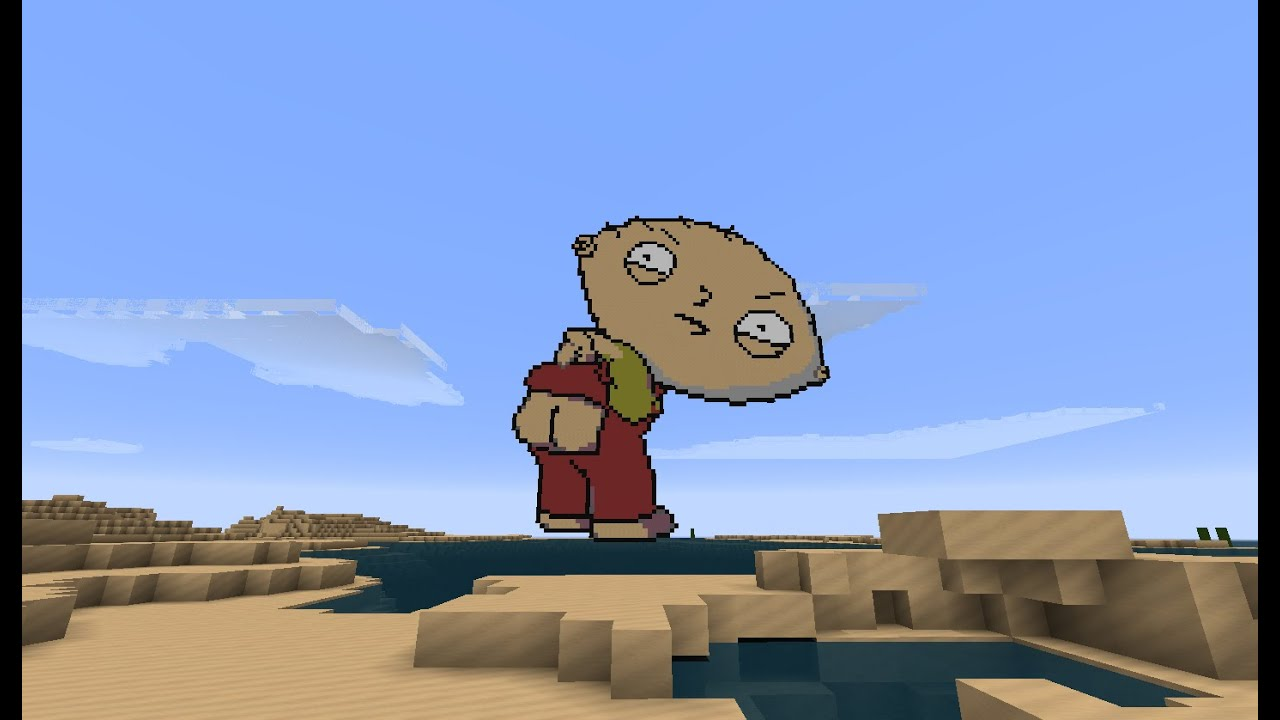 Minecraft Pixel Art Stewie Griffin Youtube