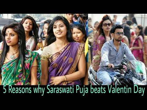 5 reasons why Saraswati Puja beat Valentin Days in Assam, India | Saraswati Puja Photo 2018