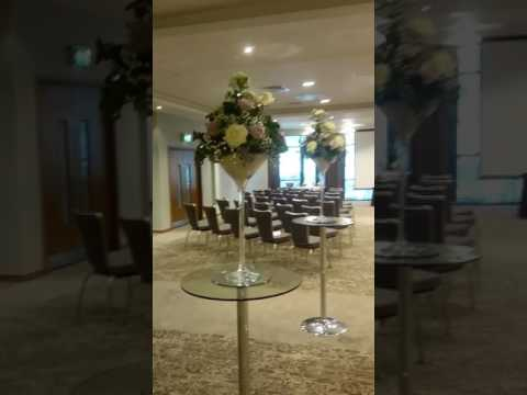 DoubleTree hilton Lincoln wedding set up