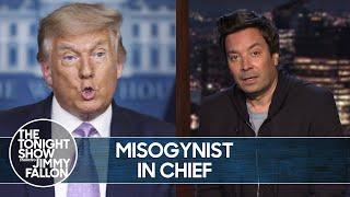 "Trump Attacks AOC, NancyPelosi and""Mad Woman"" Kamala Harris | The Tonight Show"