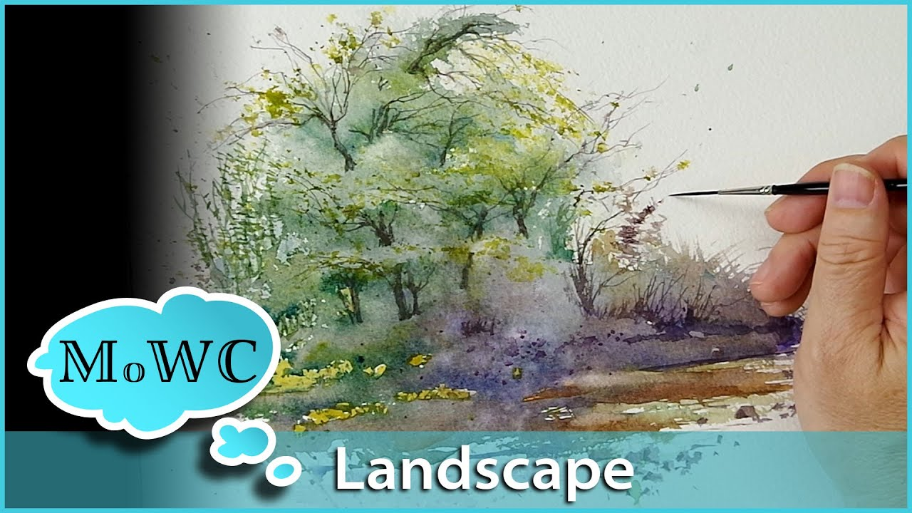 How To Paint A Spontaneous Watercolor Landscape