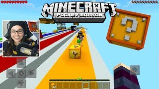 SAIU! CORRIDA LUCKY BLOCK IGUAL DE PC PARA O MINECRAFT POCKET EDITION ! (MINECRAFT PE)