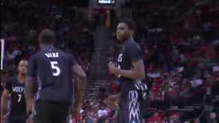 NBA: Andrew Wiggins Slams Home Powerful Two-Handed Jam
