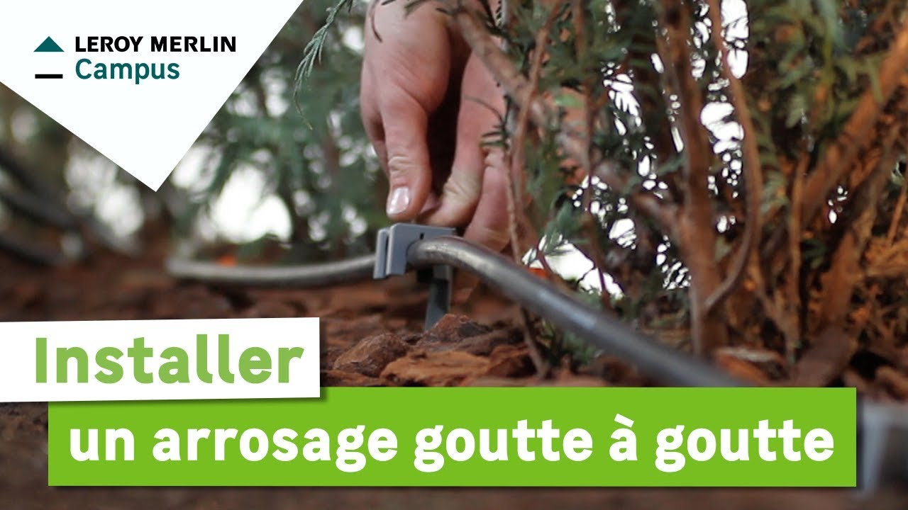 Comment Installer Un Arrosage Goutte à Goutte Leroy Merlin Youtube