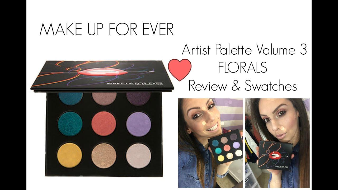 make up for ever artist palette volume 3 florals review