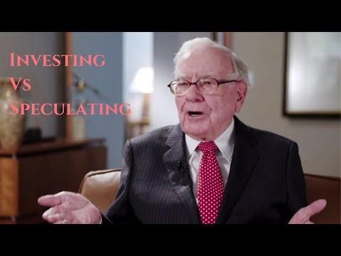 Warren Buffett Explains Investing Vs Speculating