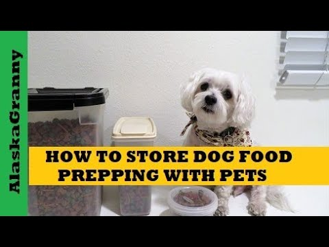 How to Store Dog Food - Prepping With Pets