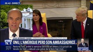 Ambassadrice des États-Unis à l'ONU, Nikki Haley démissionne