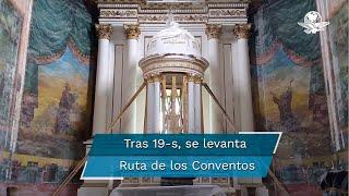 Los templos e iglesias que resultaron dañadas tienen trabajos pendientes y esperan recursos del Fonden, sin embargo, la reconstrucción avanza en varios inmuebles religiosos del conjunto reconocido por la UNESCO