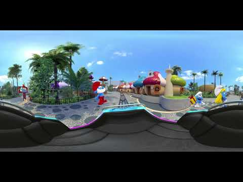 360 Virtual Reality Coaster Tour of MOTIONGATE™ Dubai theme Park