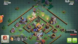 [HD]CLASH OF CLANS. MY 5 BH BASE DEFENSE !!! (2017.06.20)