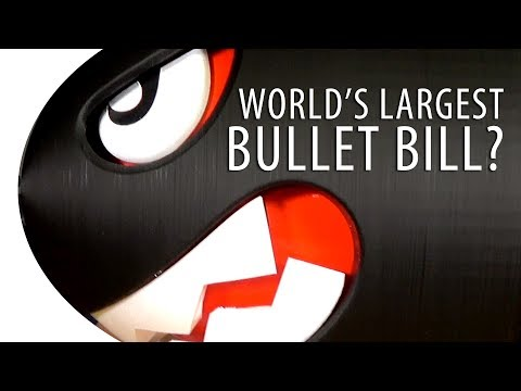 World's Largest 3D Printed Bullet Bill / Banzai Bill from Nintendo Super Mario Bros?