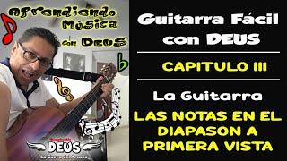 Aprendiendo Música con DEUS | Guitarra | Localización de Notas en el Diapasón a Primera Vista