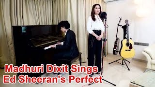 Madhuri Dixit Sings Ed Sheeran's Perfect, HANDSOME Son Arin Plays Piano