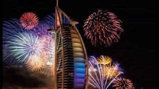 Dubai, Burj Khalifa Fireworks 2016 - New Year's Eve Fireworks