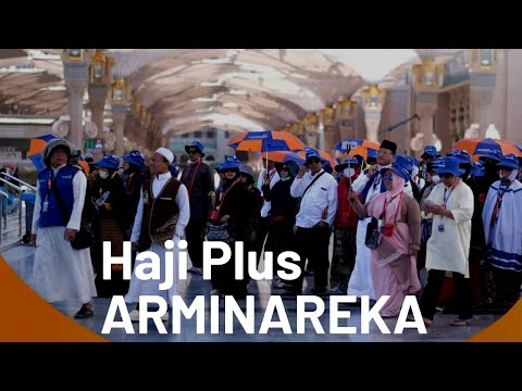 Suasana di bandara soeta saat keberangkatan jamaah haji PT Arminareka perdana #hajiplus #arminarekap.