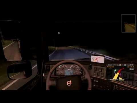 Euro Truck Simulator 2 - Bratislava (SK) / Zürich (CH) - at night/morning - Logitech g27
