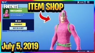 FORTNITE ITEM SHOP *NEW* KING FLAMINGO SKIN SET! | ITEM SHOP (July 5, 2019)