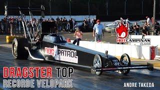 Dragster TOP - Recorde Velopark, tirando o pé bem antes!  Andre Takeda