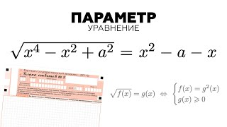 #90. РЕАЛЬНАЯ ЗАДАЧА С ПАРАМЕТРОМ ИЗ ЕГЭ! Уравнение с радикалами