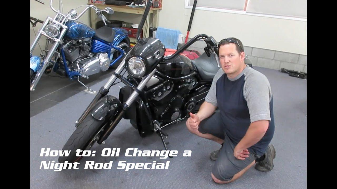 Harley Davidson V Rod Oil Change