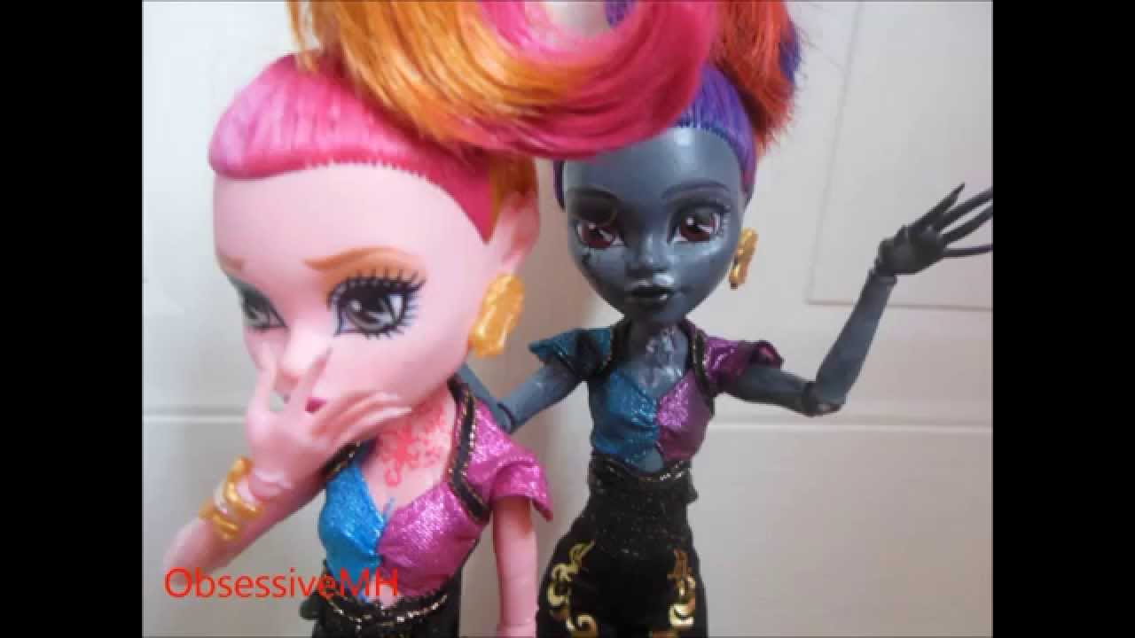 Monster High Custom Repaint Wisp Doll Youtube