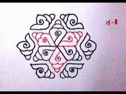 Shanku rangoli Easy for beginners and beautiful