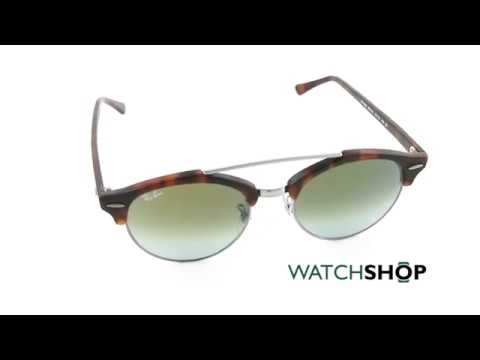 5d81a25f76 Ray-Ban Men s Clubround Double Bridge Sunglasses (RB4346-62519J-51 ...