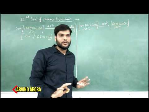 IIT/JEE 2nd law of Thermo Dynamics(with example). Thermo Dynamics & Chemistry (Part- 44) By AArora.