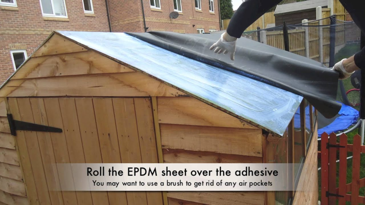 Epdm Rol How To Waterproof Your Shed Roof With Epdm