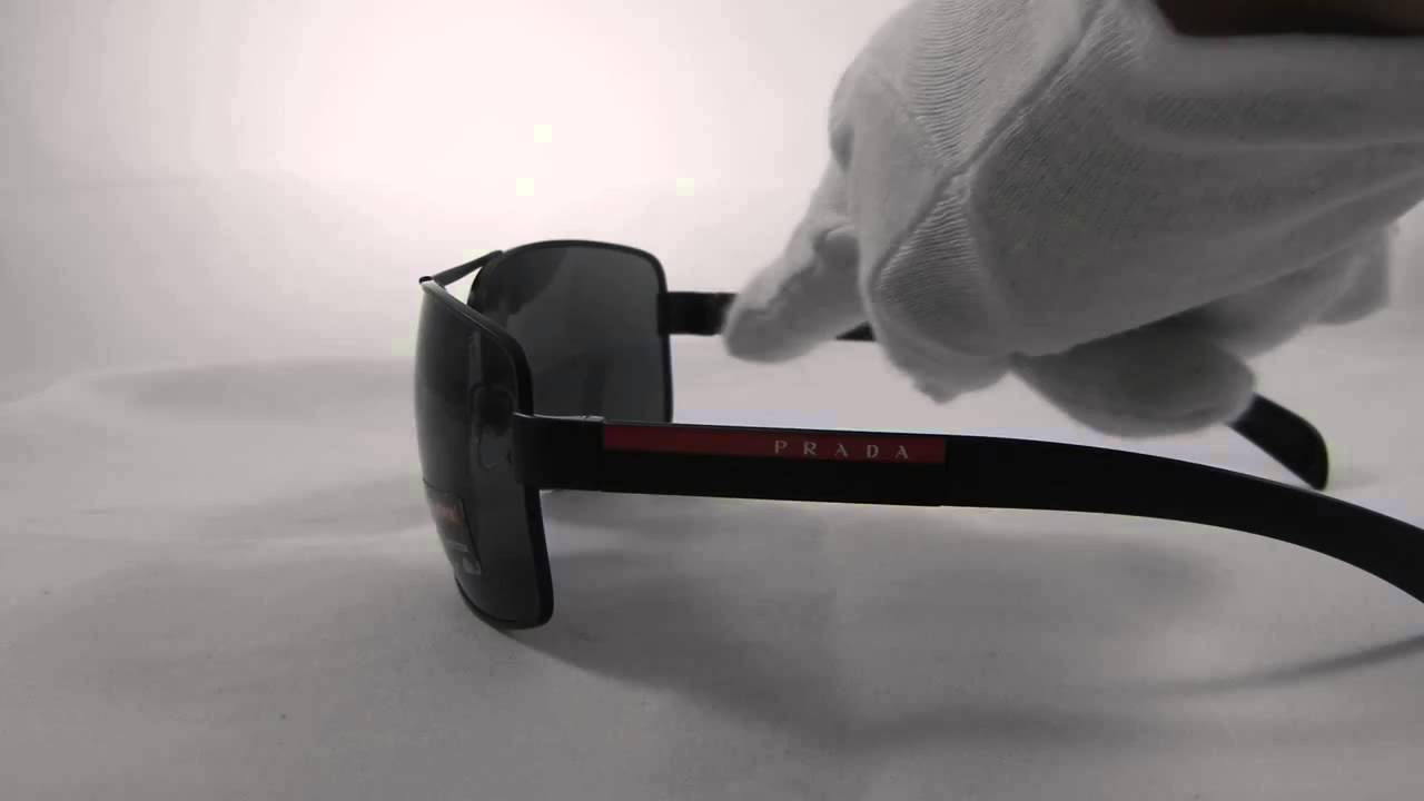 1ef58c6842 Prada Sport PS54IS 1BO1A1 Mens Sunglasses - YouTube