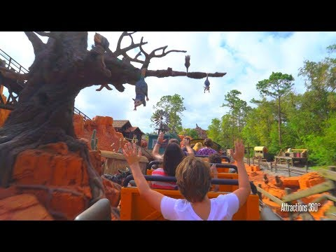 [4K] Big Thunder Mountain Coaster - Magic Kingdom - Walt Disney World