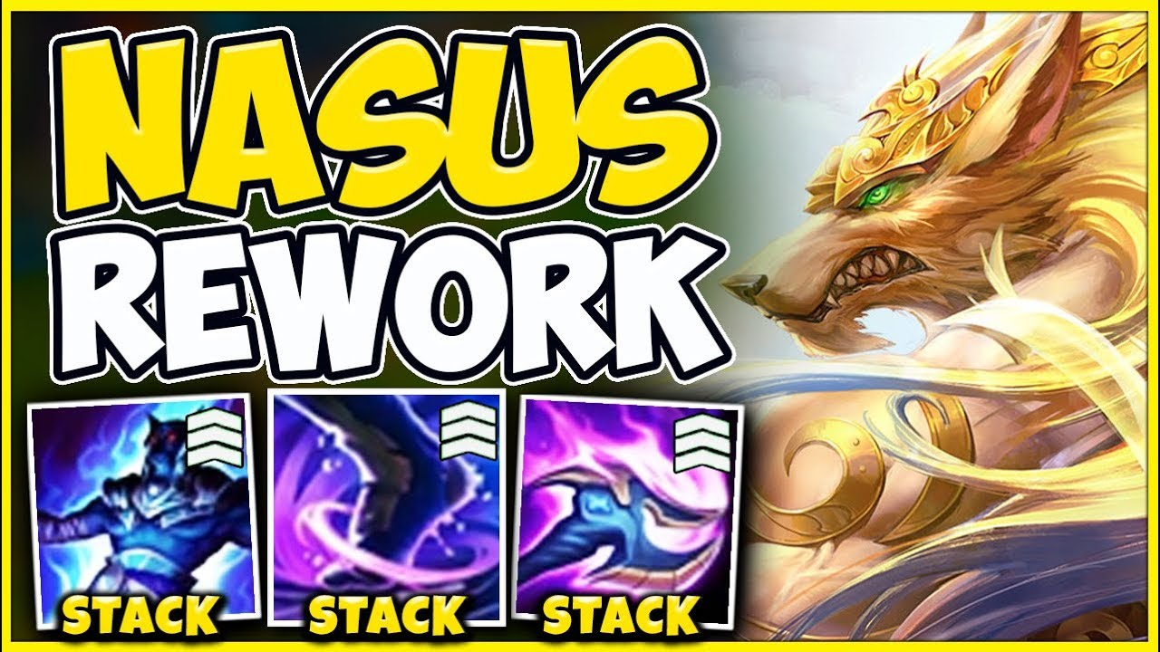 *NEW REWORK* EVERY NASUS ABILITY NOW STACKS (CRAZY UPDATE) - League of Legends