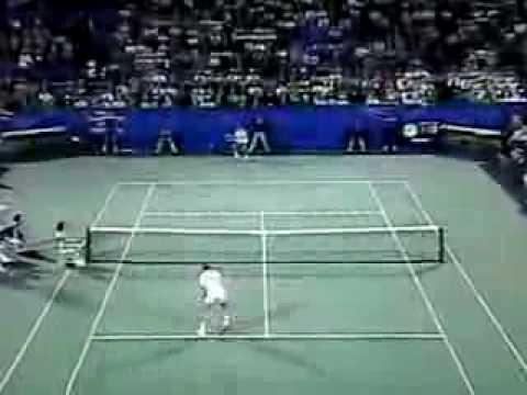Amazing tennis point