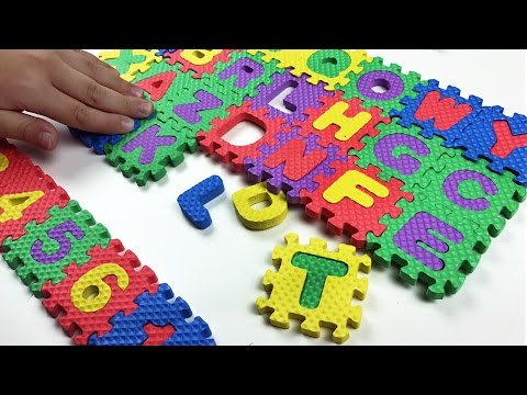 Learn ABC (Alphabets) , Numbers and Colors with squishy colorful puzzle. Let's play kids.
