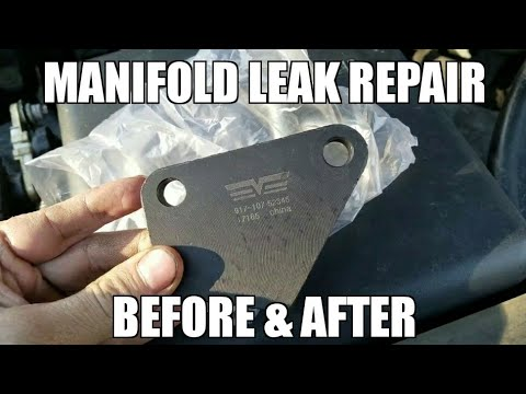 Dorman Manifold Clamp - Before and After - Exhaust Leak Fix LQ4 LM3 LS1 LR4  LQ9 Chevy/Gmc/Pontiac