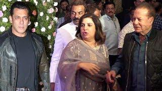 Farah Khan Welcomes Salman's Father Salim Khan At Raj Thackeray Son Amit's Wedding Reception
