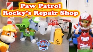 PAW PATROL Nickelodeon  Rocky's Repair Shop Toys Video Parody(We love Paw Patrol on Nickelodeon! See all of our Surprise videos http://www.youtube.com/playlist?list=PLoLQ9unpi4OEEM3rUVjLGa0pUaXQvW3Wd Please ..., 2014-09-20T08:00:01.000Z)