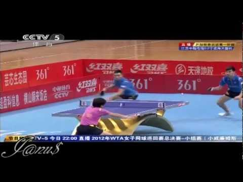 2012 China Super League: MA Lin / CHEN Qi - YAN An / ZHAI Yiming [Full Match/Short Form]