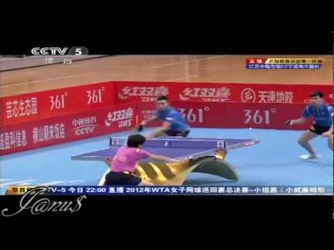 2012 China Super League: MA Lin / CHEN Qi - YAN An / ZHAI Yiming [Full Match/Short Form]