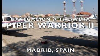 Vuelo a Talavera Toledo Piper Warrior II Rio Tajo (4K)