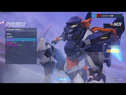 Pharah - Mechaqueen (all highlights, emotes, poses) - Overwatch Skin Spotlights