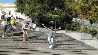 Место съёмок Потемкинская лестница.
