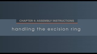 Chapter 4.4 Handling the Excision Ring